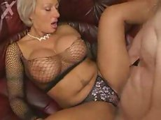 Milf with big tits fucked