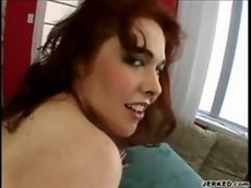 Mae victoria fills her ass with a hard cock and cum - bottom