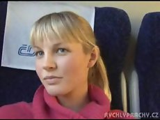 Czech girl on train