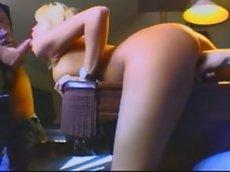 Anita blond anal dp