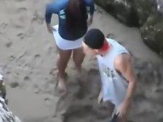 Fucking at the beach