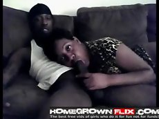 Amateur blowjob & doggystyle on the couch - homegrown flix c