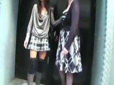 Katia and a girlfriend dped in a gangbang